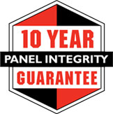 10 Year panel integrity guarantee