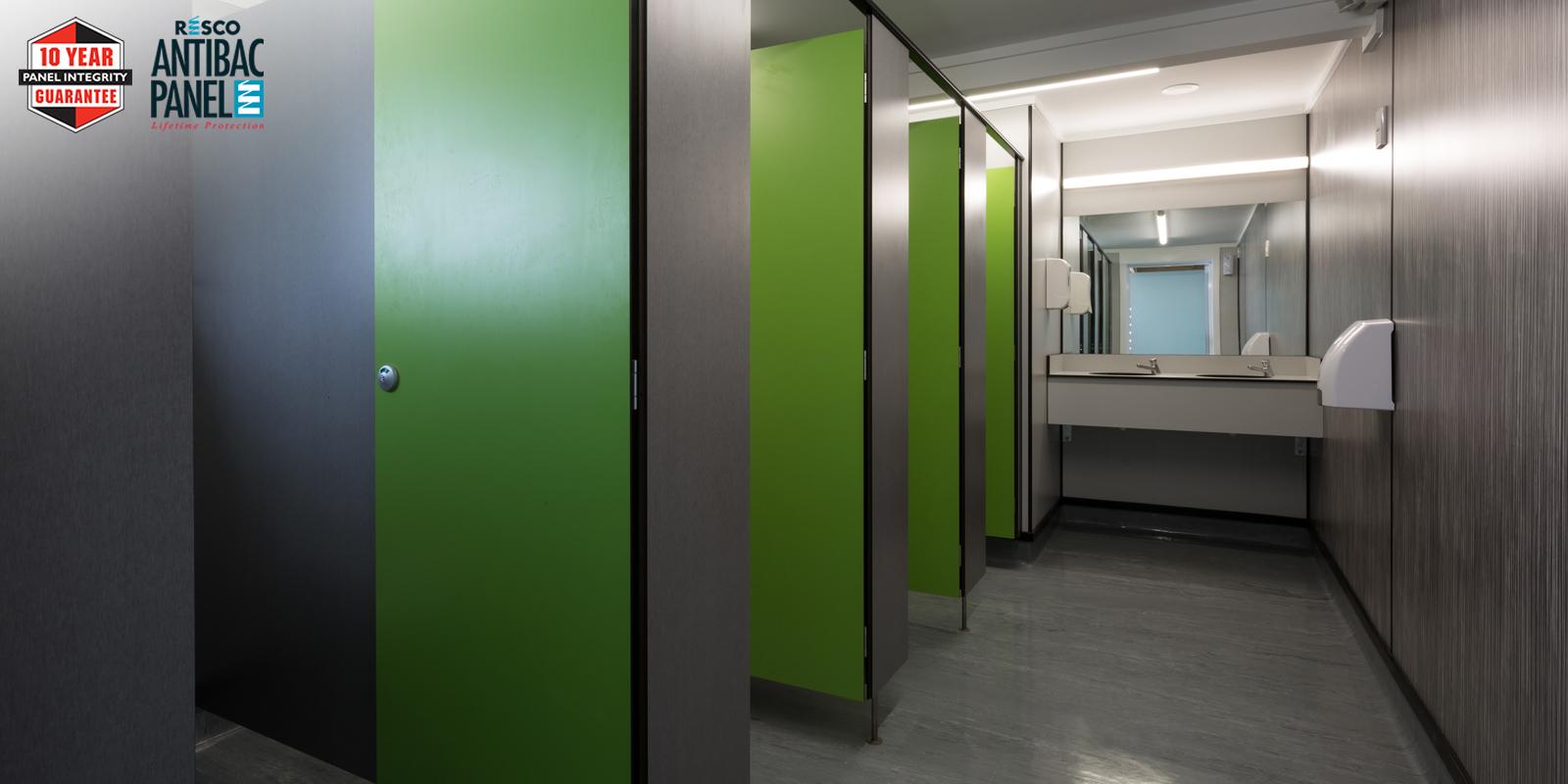 Robust Resco Panels and Partitions Brighten School Toilet Block.