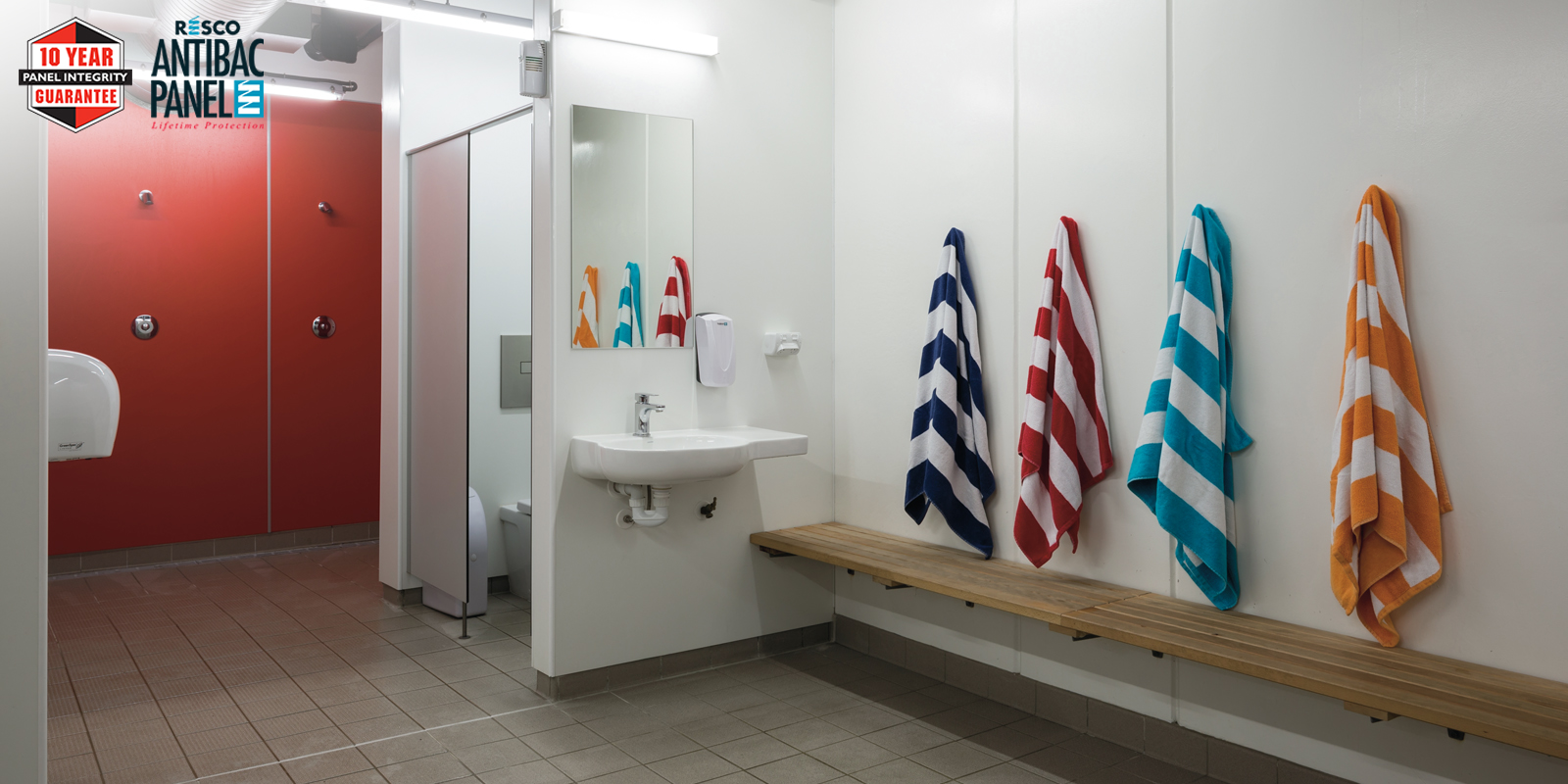Resco's MultiCom Panelling Delivers Stylish Compliance in Wet Areas